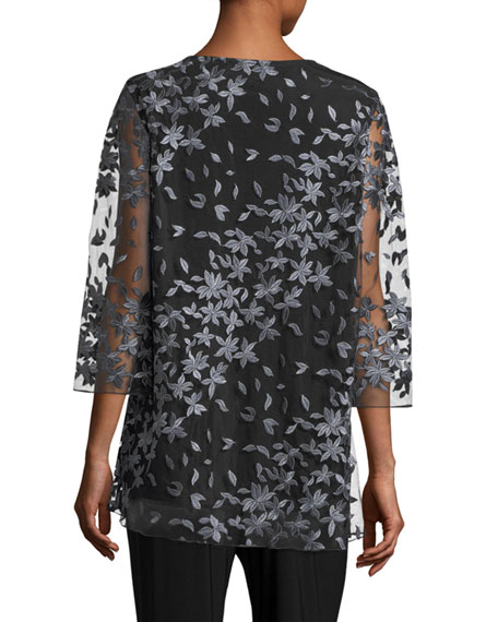 Floral Notes Layered Tunic, Plus Size