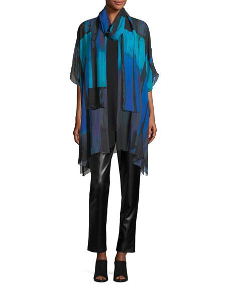Jewel-Tone Georgette Long Tunic