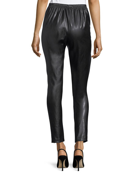 Bi-Stretch Faux-Leather Pants, Plus Size