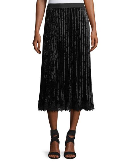 Kobi Halperin x Erte Sarina Long-Sleeve Crocheted Velvet