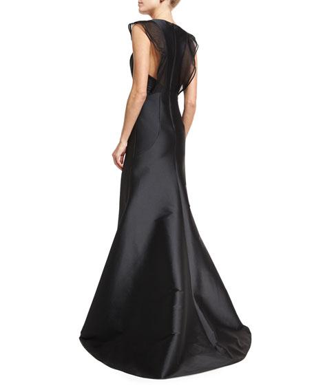 Anastasia Sleeveless Stretch Taffeta Mermaid Gown