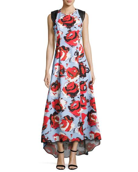 Sachin & Babi Academy Sleeveless Floral Ottoman Gown