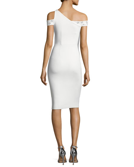 Vlada Studded Jersey Cocktail Dress