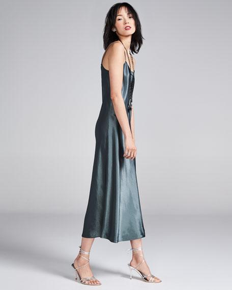 Sleeveless Silk Slip Midi Dress