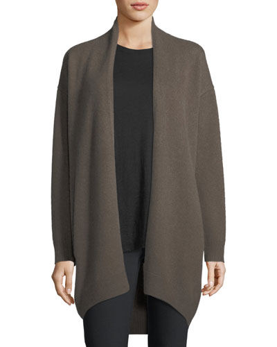 Cashmere Drop-Shoulder Cardigan