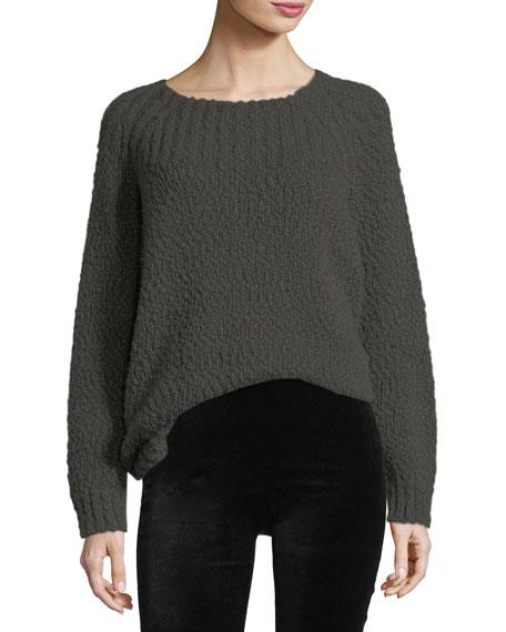 Oversized Popcorn Long-Sleeve Sweater