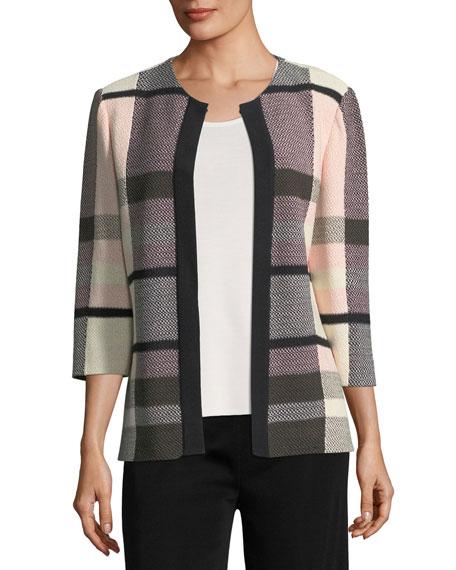 Misook Plaid 3/4-Sleeve Jacket and Matching Items, Plus