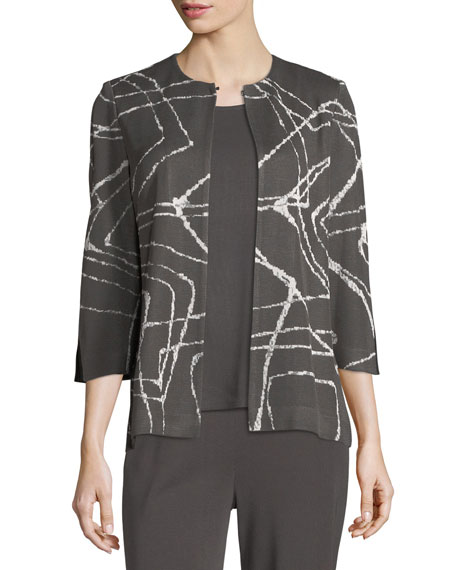 Misook Spiderweb 3/4-Sleeve Jacket and Matching Items