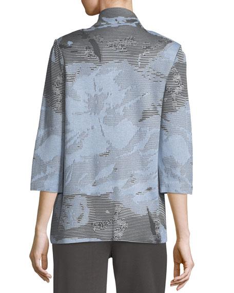 Subtle Stripes & Floral Jacket