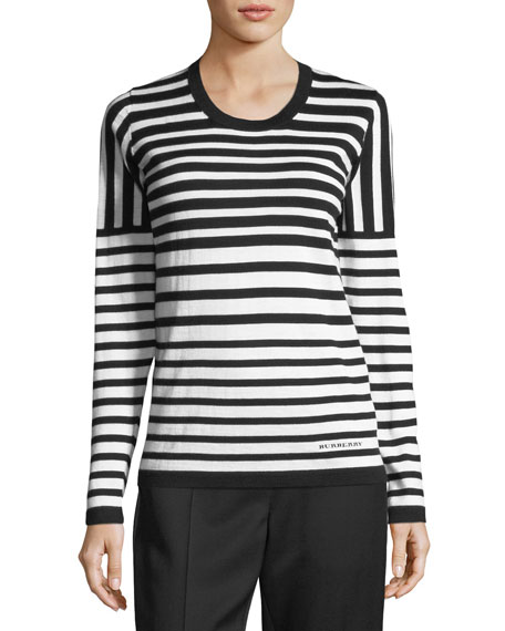 Burberry Mixed Merino Striped Sweater