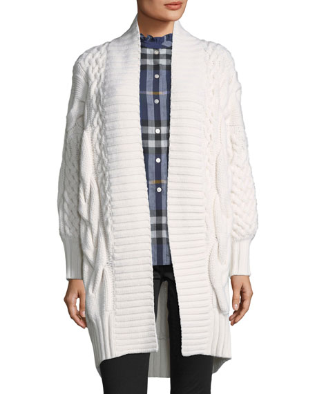 Burberry Camrosebrook Cabled Cardigan