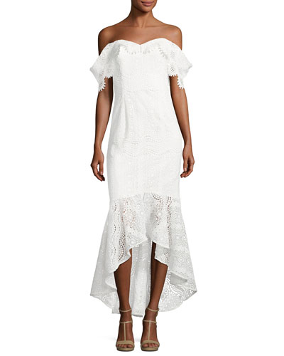 Vanowen Off-the-Shoulder Lace Dress