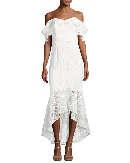 Vanowen Off-the-Shoulder Lace Dress