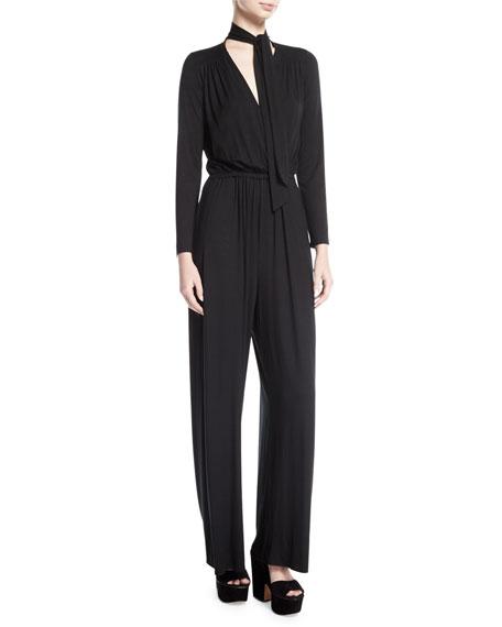 Rachel Pally Miro Long-Sleeve Jersey Jumpsuit