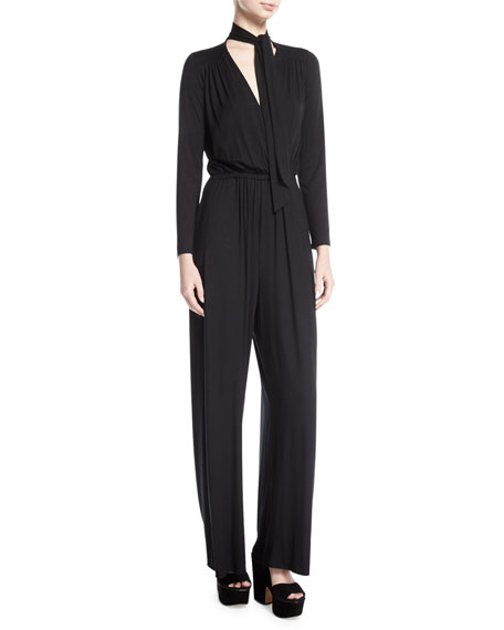 Rachel Pally Miro Long-Sleeve Jersey Jumpsuit, Plus Size