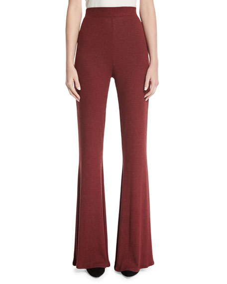 Karson Ribbed Wide-Leg Pants