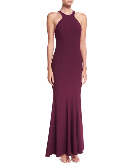 Charlize Halter Jersey Mermaid Gown