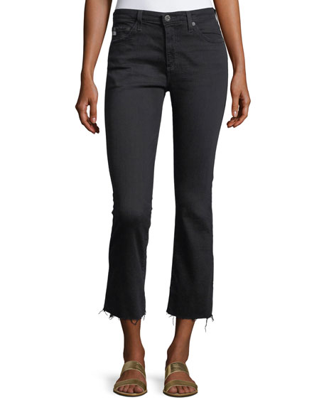 The Jodi High-Rise Slim Flare Crop Jeans