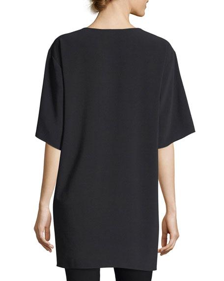 Silk Screen-Print Oversized T-Shirt