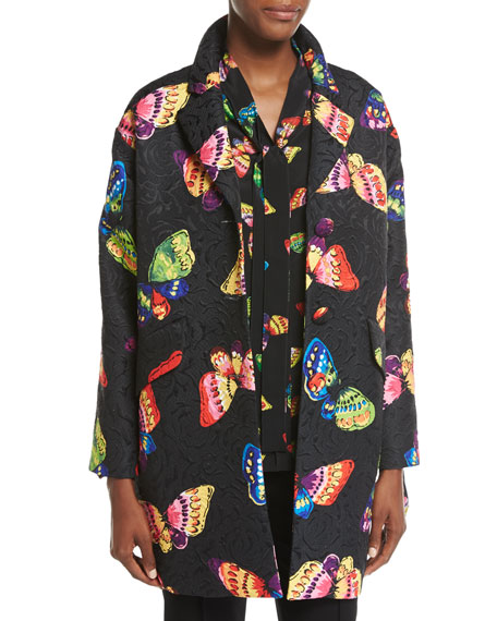 Boutique Moschino Butterfly Jacquard Topper Jacket
