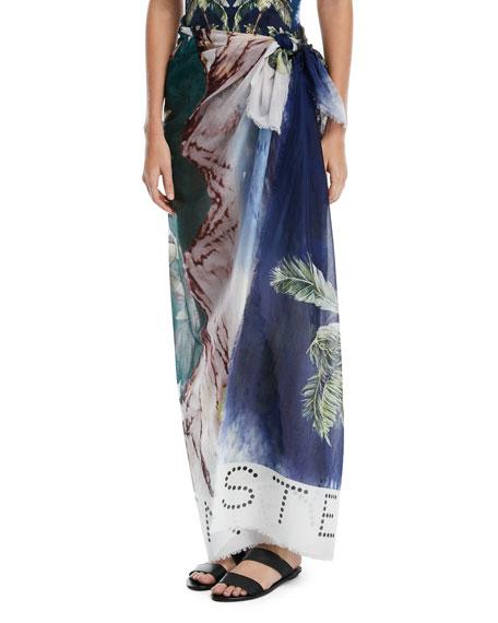 Iconic Prints Flora Cotton Sarong, One Size