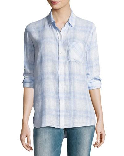 Charli Plaid Button-Front Shirt