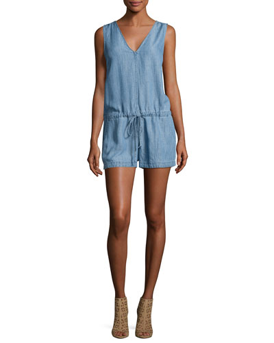 Parker Sleeveless Chambray Romper