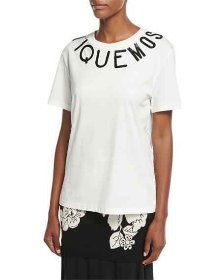 Boutique Moschino Short-Sleeve Cotton Logo T-Shirt