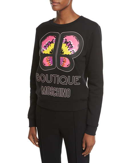Boutique Moschino Butterfly Logo Sweatshirt