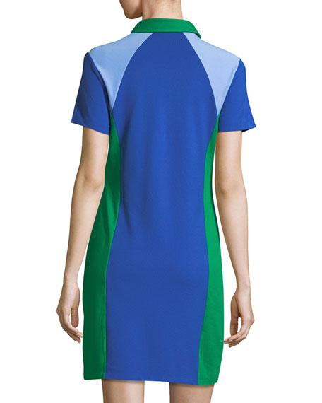 Colorblock Pique Polo Dress