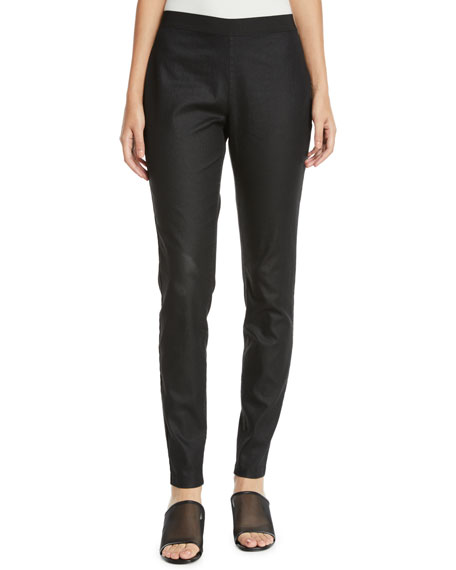 Eileen Fisher Coated Denim Leggings, Petite