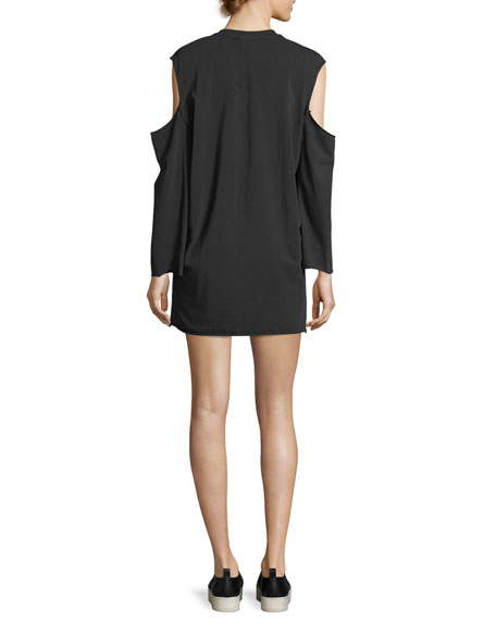 Cutaway Long-Sleeve T-Shirt Dress
