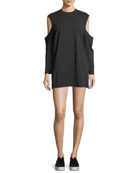 Kendall + Kylie Cutaway Long-Sleeve T-Shirt Dress
