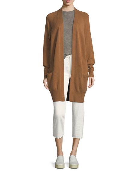Cashmere Raglan Sleeve Cardigan  Sweater