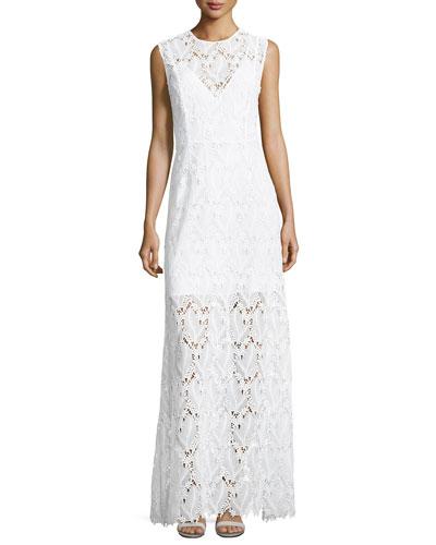 Sleeveless High-Neck Fluid Dress