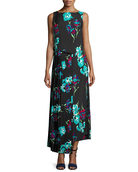 Diane von Furstenberg Sleeveless Floral-Printed Maxi Dress