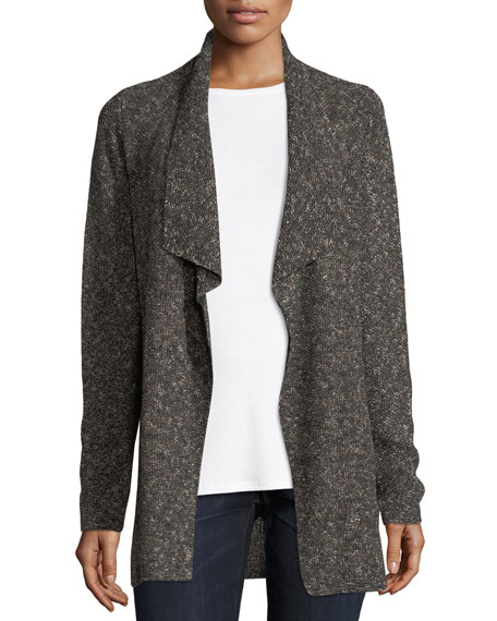 Organic Cotton/Linen Speckled Cardigan