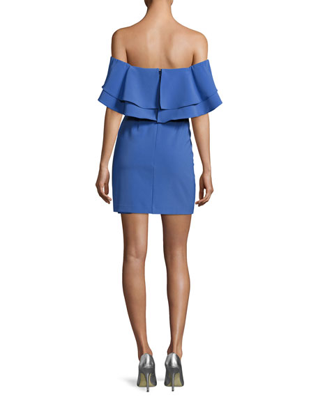 Harper Off-the-Shoulder Ruffled Mini Dress
