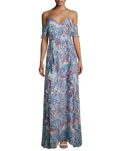 Irene Sleeveless Silk Maxi Dress