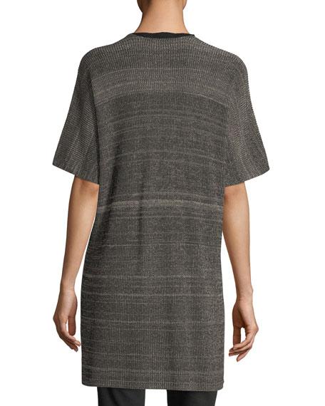 Sleek Elbow-Sleeve Kimono Cardigan, Plus Size