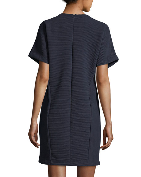 Embellished Ottoman Shift Dress, Plus Size