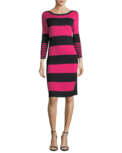 Bold Striped Sweater Dress