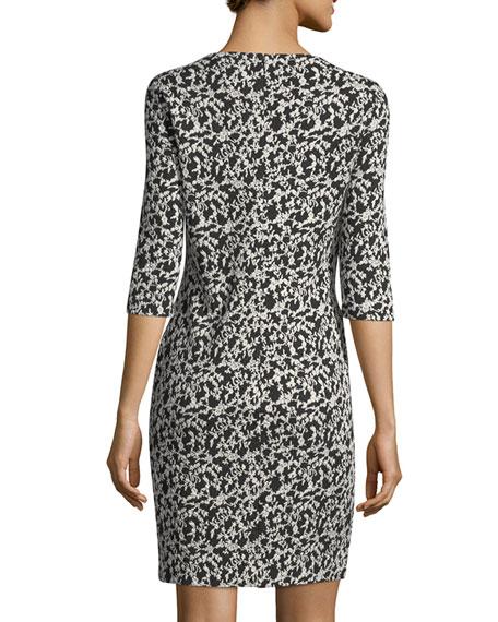 Audrey Floral Jacquard Sheath Dress, Plus Size