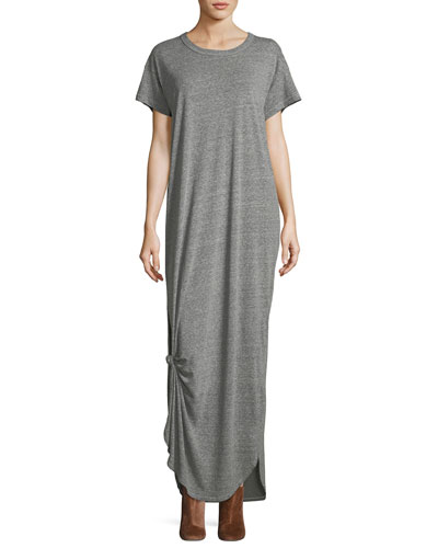 The Knotted Short-Sleeve Tee Dress