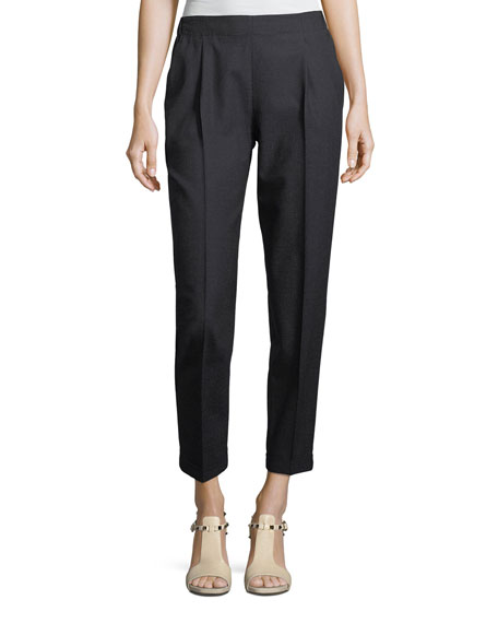 Antonelli Lightweight Wool Pleated Pants