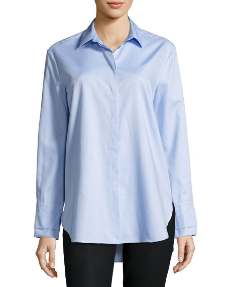 Antonelli Long-Sleeve Double-Cuff Button-Down Cotton Shirt