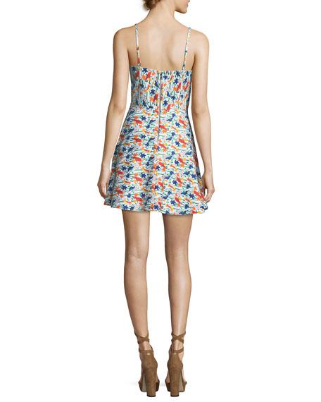 Nella Button-Front Sleeveless Mini Dress