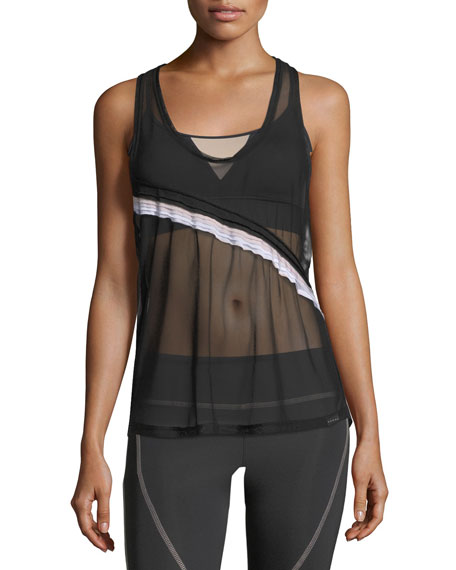 Division Sheer Mesh Scoop-Neck Performance Tank