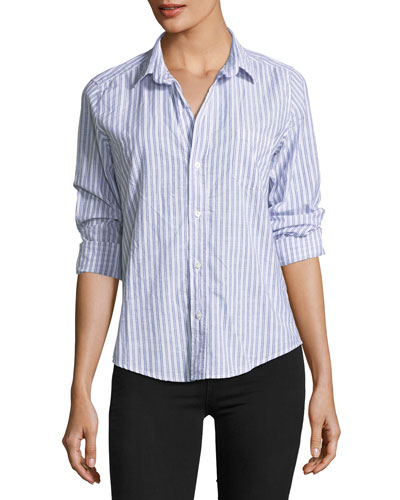 Barry Striped Button-Front Shirt