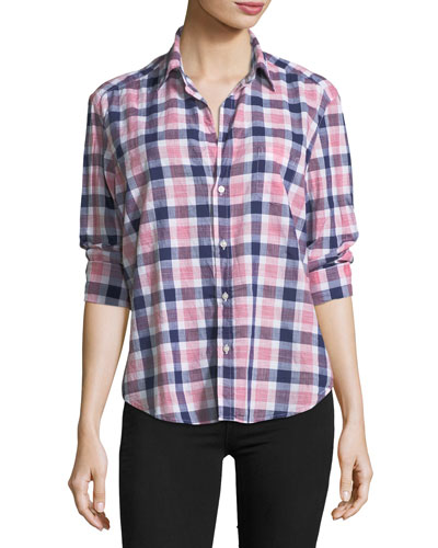 Eileen Check Button-Front Shirt